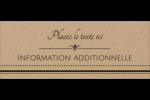 Grand chic Affichette - gabarit prédéfini. <br/>Utilisez notre logiciel Avery Design & Print Online pour personnaliser facilement la conception.