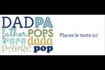 Papas du monde Affichette - gabarit prédéfini. <br/>Utilisez notre logiciel Avery Design & Print Online pour personnaliser facilement la conception.