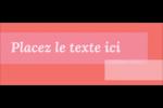Traitement rose Affichette - gabarit prédéfini. <br/>Utilisez notre logiciel Avery Design & Print Online pour personnaliser facilement la conception.