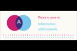 Styliste Affichette - gabarit prédéfini. <br/>Utilisez notre logiciel Avery Design & Print Online pour personnaliser facilement la conception.