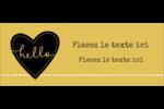 Cœur brodé hello Affichette - gabarit prédéfini. <br/>Utilisez notre logiciel Avery Design & Print Online pour personnaliser facilement la conception.