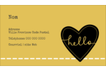 Cœur brodé hello Carte d'affaire - gabarit prédéfini. <br/>Utilisez notre logiciel Avery Design & Print Online pour personnaliser facilement la conception.