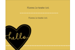 Cœur brodé hello Carte Postale - gabarit prédéfini. <br/>Utilisez notre logiciel Avery Design & Print Online pour personnaliser facilement la conception.