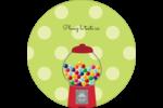 Boules de gomme Étiquettes rondes - gabarit prédéfini. <br/>Utilisez notre logiciel Avery Design & Print Online pour personnaliser facilement la conception.