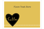 Add whimsy to customized projects with pre-designed Stitched Heart Hello templates.