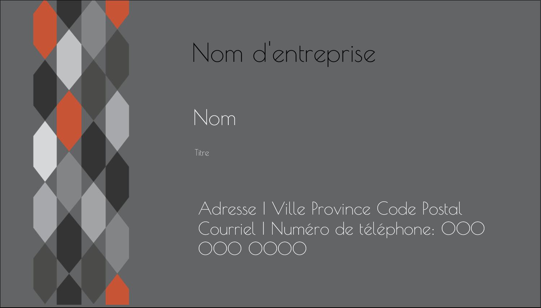 "2"" x 3½"" Carte d'affaire - Hexagone orange"