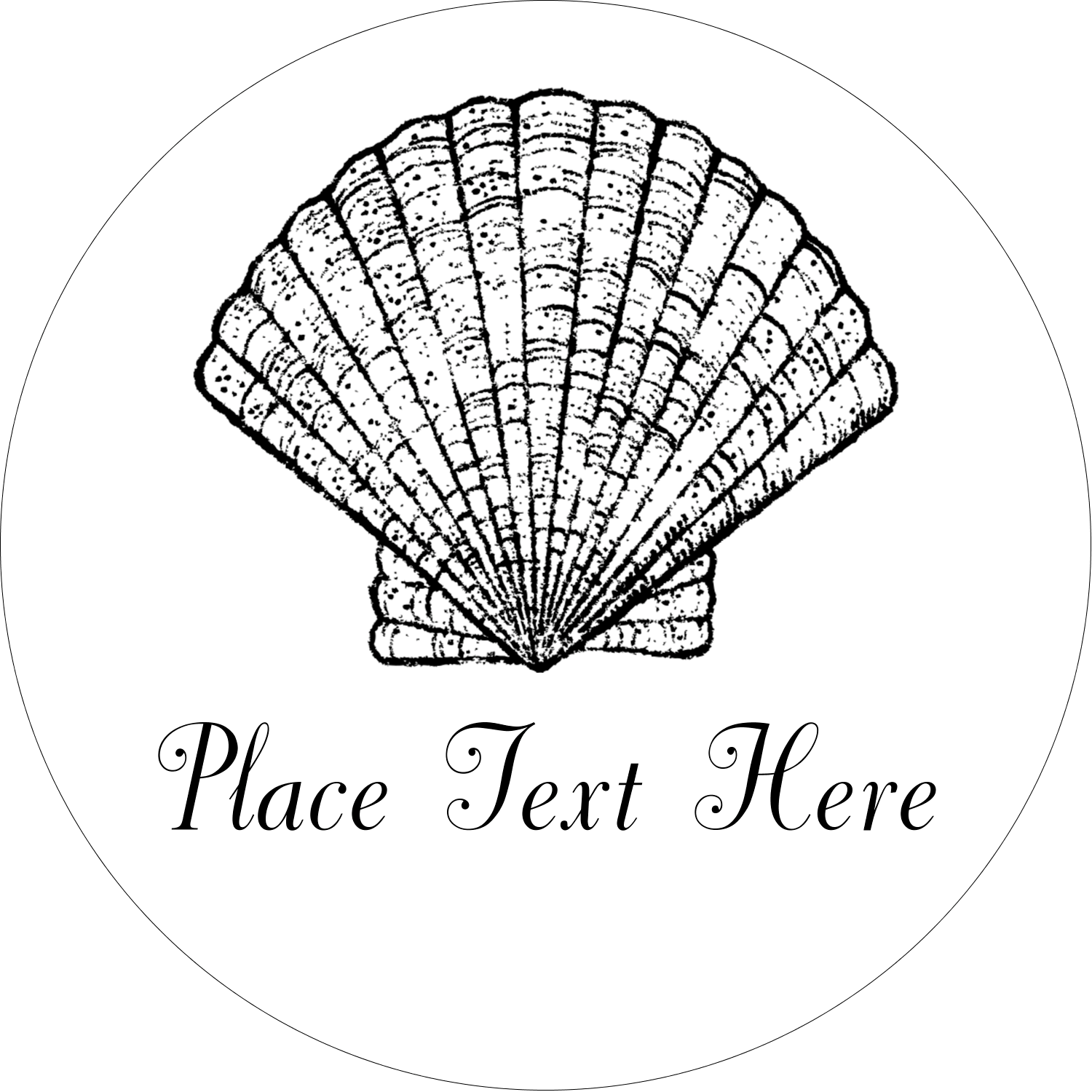"2½"" Round Label - Beach"