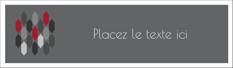 """3½"""" x 11"""" Affichette - Hexagone rouge"""