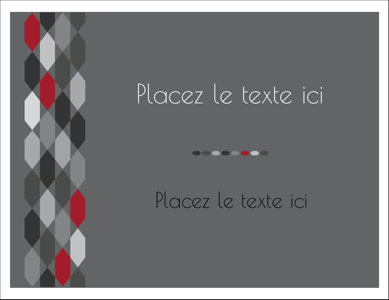 """8½"""" x 11"""" Cartes Et Articles D'Artisanat Imprimables - Hexagone rouge"""