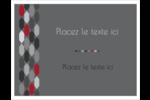Hexagone rouge Cartes Et Articles D'Artisanat Imprimables - gabarit prédéfini. <br/>Utilisez notre logiciel Avery Design & Print Online pour personnaliser facilement la conception.