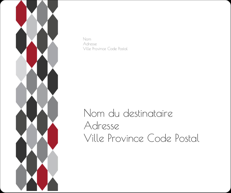 """½"""" x 1¾"""" Étiquettes D'Adresse - Hexagone rouge"""