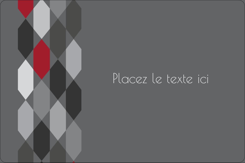 """3"""" x 3¾"""" Étiquettes rectangulaires - Hexagone rouge"""