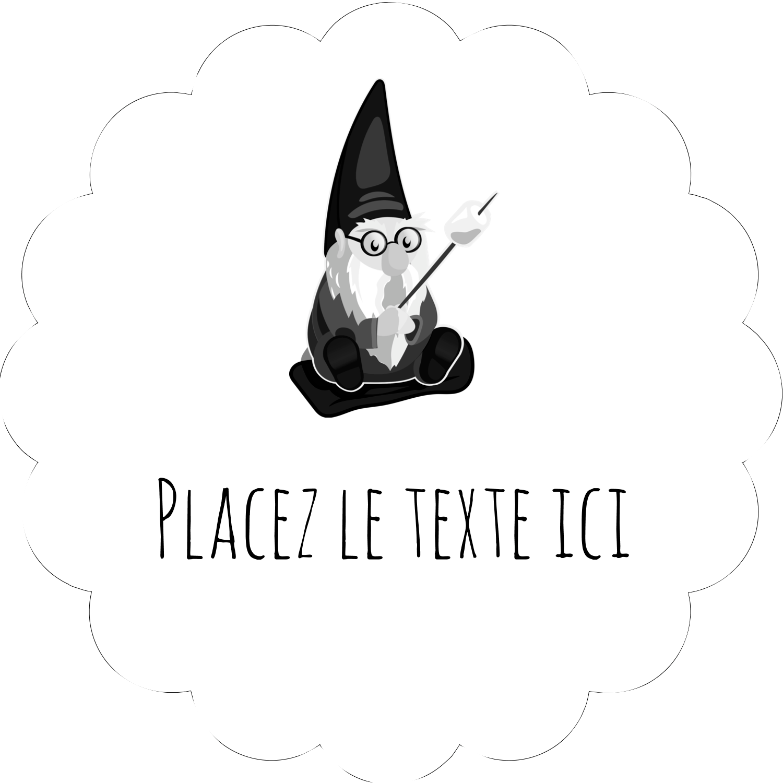 """½"""" x 1¾"""" Étiquettes D'Adresse - Gnome en camping"""