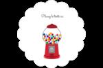 Boules de gomme Étiquettes festonnées - gabarit prédéfini. <br/>Utilisez notre logiciel Avery Design & Print Online pour personnaliser facilement la conception.