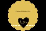 Cœur brodé hello Étiquettes festonnées - gabarit prédéfini. <br/>Utilisez notre logiciel Avery Design & Print Online pour personnaliser facilement la conception.