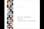 Hexagone orange Étiquettes d'expédition - gabarit prédéfini. <br/>Utilisez notre logiciel Avery Design & Print Online pour personnaliser facilement la conception.