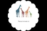 Girafe en fête Étiquettes festonnées - gabarit prédéfini. <br/>Utilisez notre logiciel Avery Design & Print Online pour personnaliser facilement la conception.