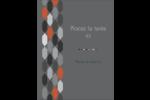 Hexagone orange Carte Postale - gabarit prédéfini. <br/>Utilisez notre logiciel Avery Design & Print Online pour personnaliser facilement la conception.