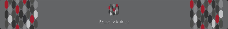 """1½"""" x 2½"""" Étiquettes ovales - Hexagone rouge"""