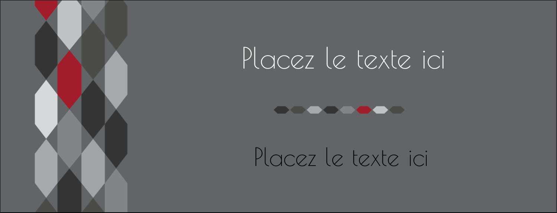 """1-7/16"""" x 3¾"""" Affichette - Hexagone rouge"""