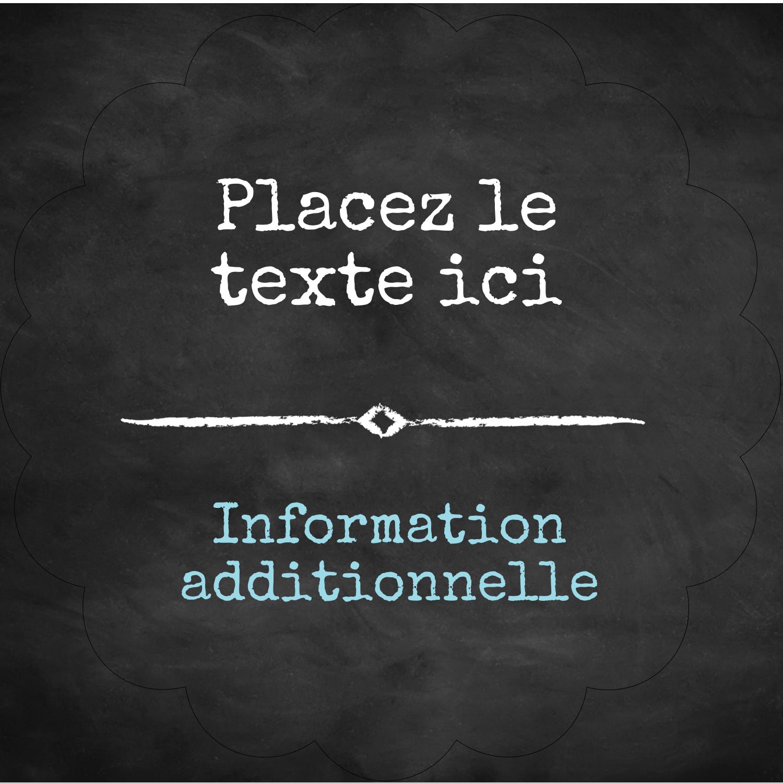 """2½"""" Diameter Étiquettes rondes - Diplôme et craie"""