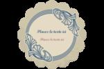 Bouquet français Étiquettes rondes - gabarit prédéfini. <br/>Utilisez notre logiciel Avery Design & Print Online pour personnaliser facilement la conception.