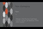 Hexagone orange Carte d'affaire - gabarit prédéfini. <br/>Utilisez notre logiciel Avery Design & Print Online pour personnaliser facilement la conception.