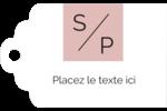 Traitement monogramme Étiquettes imprimables - gabarit prédéfini. <br/>Utilisez notre logiciel Avery Design & Print Online pour personnaliser facilement la conception.