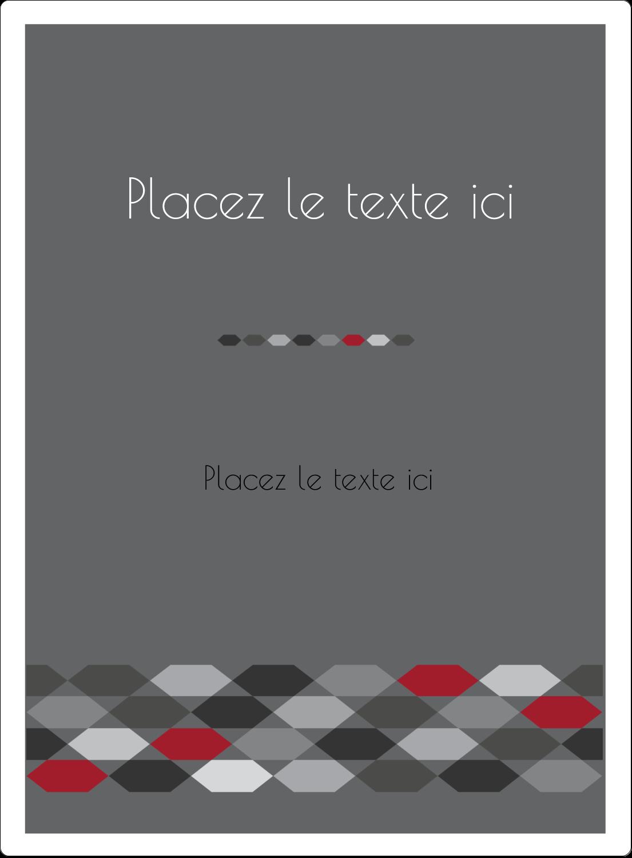 """2½"""" Diameter Étiquettes rondes - Hexagone rouge"""