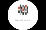 Hexagone orange Étiquettes arrondies - gabarit prédéfini. <br/>Utilisez notre logiciel Avery Design & Print Online pour personnaliser facilement la conception.