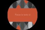 Hexagone orange Étiquettes de classement - gabarit prédéfini. <br/>Utilisez notre logiciel Avery Design & Print Online pour personnaliser facilement la conception.