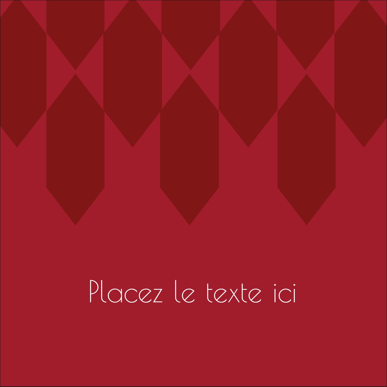 """2"""" Diameter Étiquettes rondes - Hexagone rouge"""