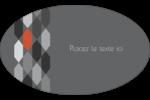Hexagone orange Étiquettes carrées - gabarit prédéfini. <br/>Utilisez notre logiciel Avery Design & Print Online pour personnaliser facilement la conception.