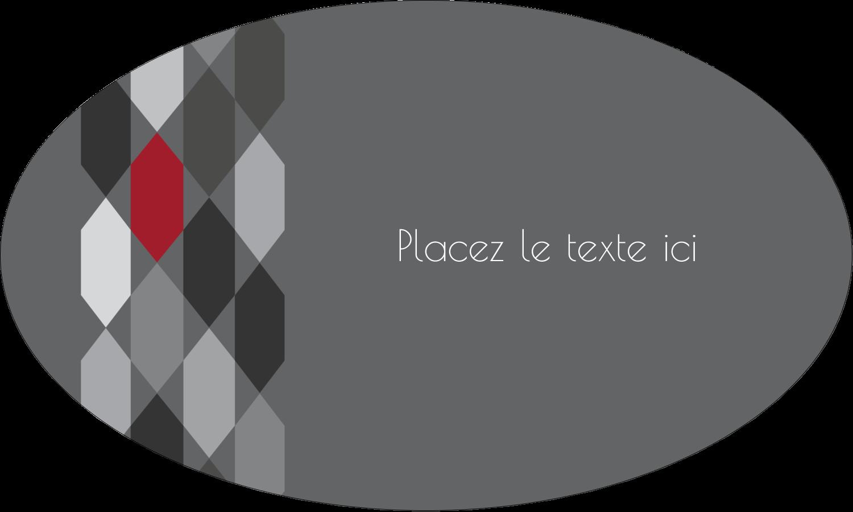 """1½"""" x 1½"""" Étiquettes carrées - Hexagone rouge"""