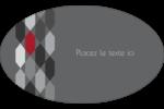 Hexagone rouge Étiquettes carrées - gabarit prédéfini. <br/>Utilisez notre logiciel Avery Design & Print Online pour personnaliser facilement la conception.