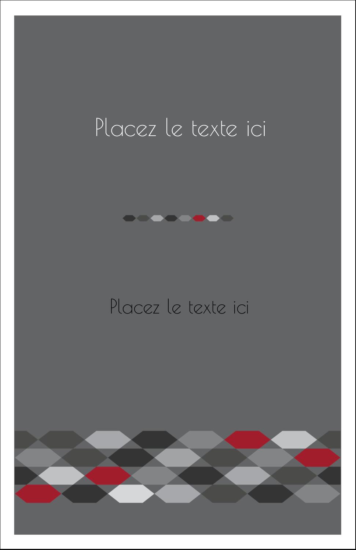 """8½"""" x 11"""" Binder Insert Reliures - Hexagone rouge"""