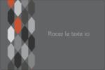 Hexagone orange Étiquettes rectangulaires - gabarit prédéfini. <br/>Utilisez notre logiciel Avery Design & Print Online pour personnaliser facilement la conception.