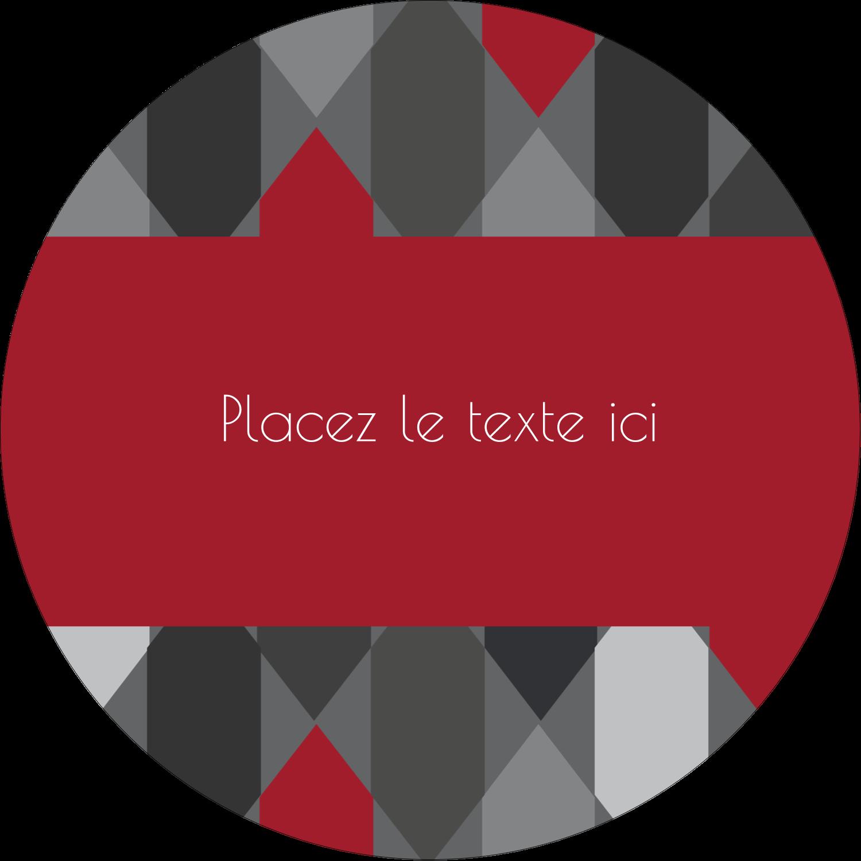 """3-7/16"""" x 15/16"""" Étiquettes de classement - Hexagone rouge"""