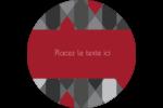 Hexagone rouge Étiquettes de classement - gabarit prédéfini. <br/>Utilisez notre logiciel Avery Design & Print Online pour personnaliser facilement la conception.