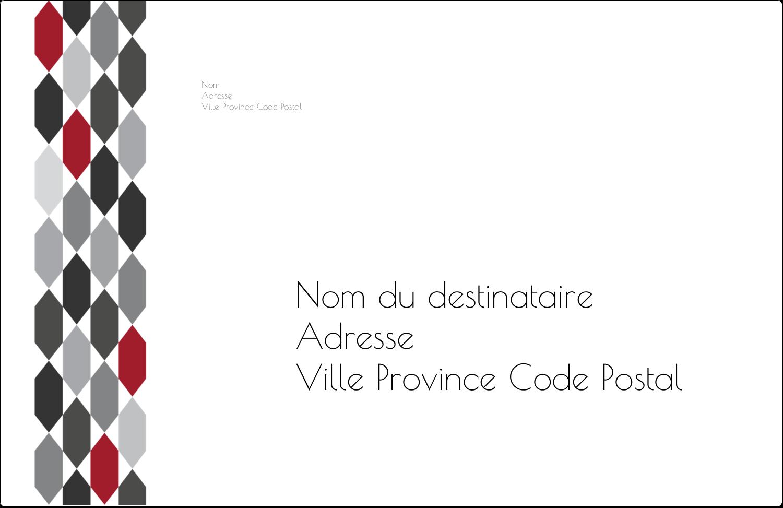 """1½"""" x 4"""" Étiquettes d'adresse - Hexagone rouge"""