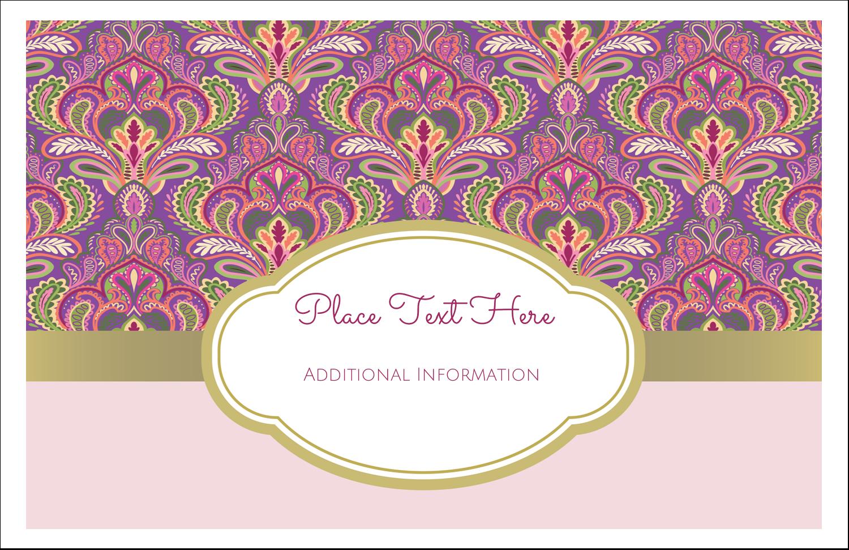 "5½"" x 8½"" Greeting Card - Purple Paisley Lip Balm"