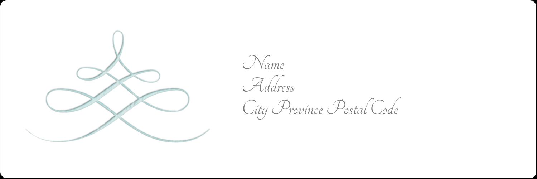 "1⅓"" x 4"" Address Label - Letterpress Elegant"