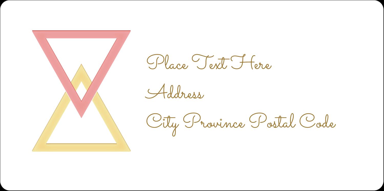 "2"" x 4"" Shipping Label - Letterpress Modern Triangles"