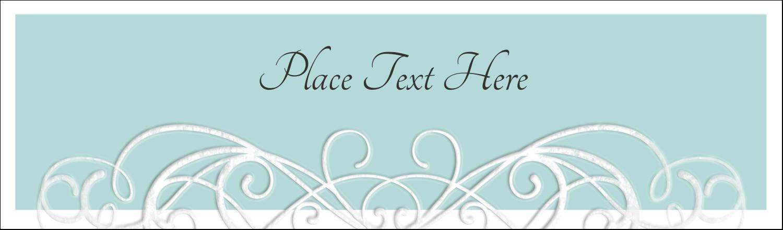 "2½"" x 8½"" Tent Card - Letterpress Elegant"