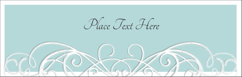 "3½"" x 11"" Tent Card - Letterpress Elegant"