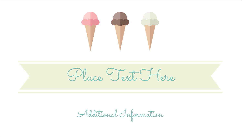 "2"" x 3½"" Business Card - Ice Cream Cart"