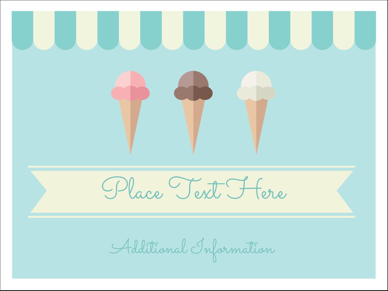 "3"" x 4"" Name Tags - Ice Cream Cart"