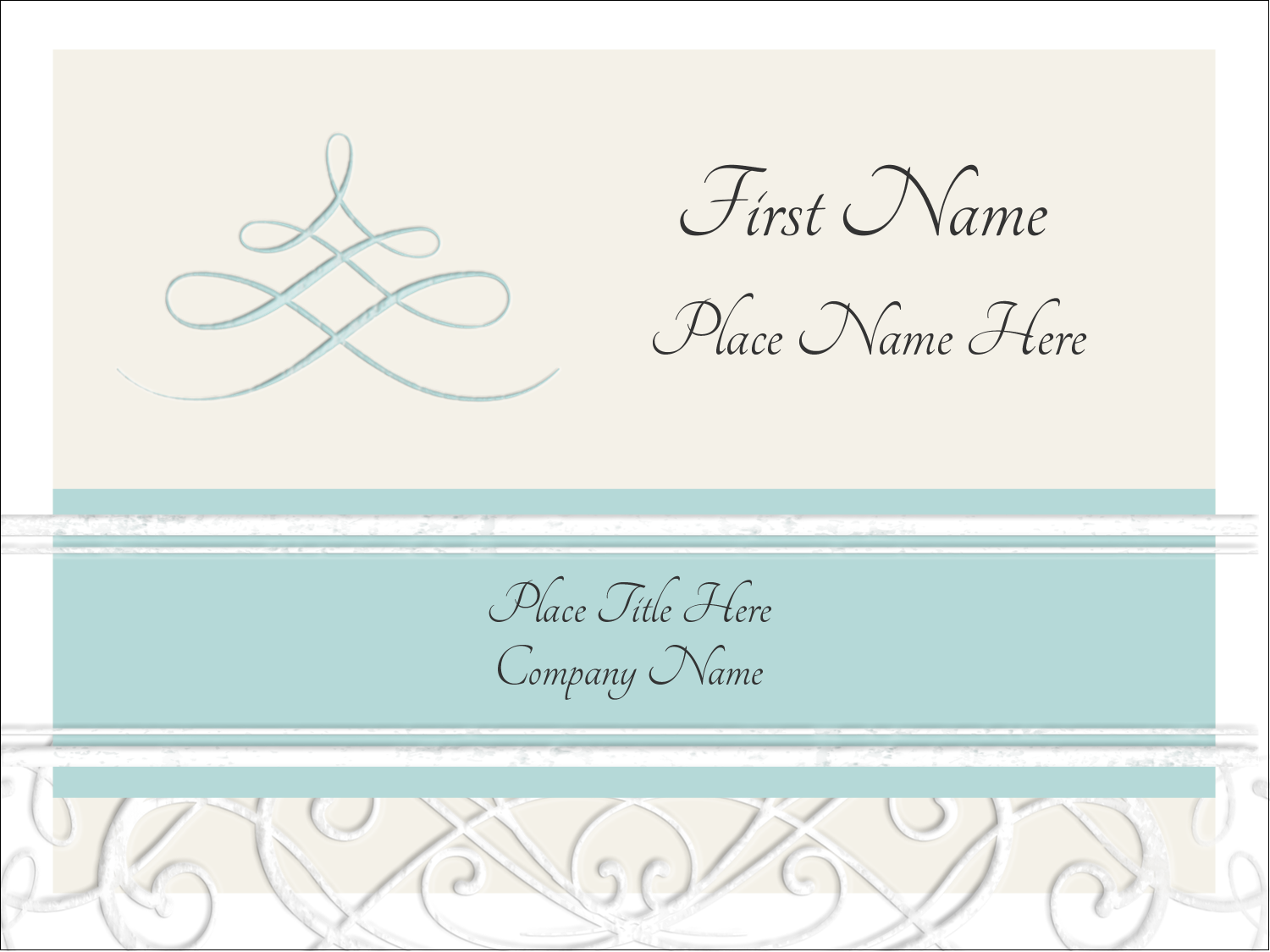 "3"" x 4"" Name Tags - Letterpress Elegant"