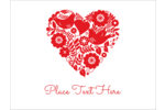 Send a message of peace and love with easy-to-customize pre-designed Love Dove templates.