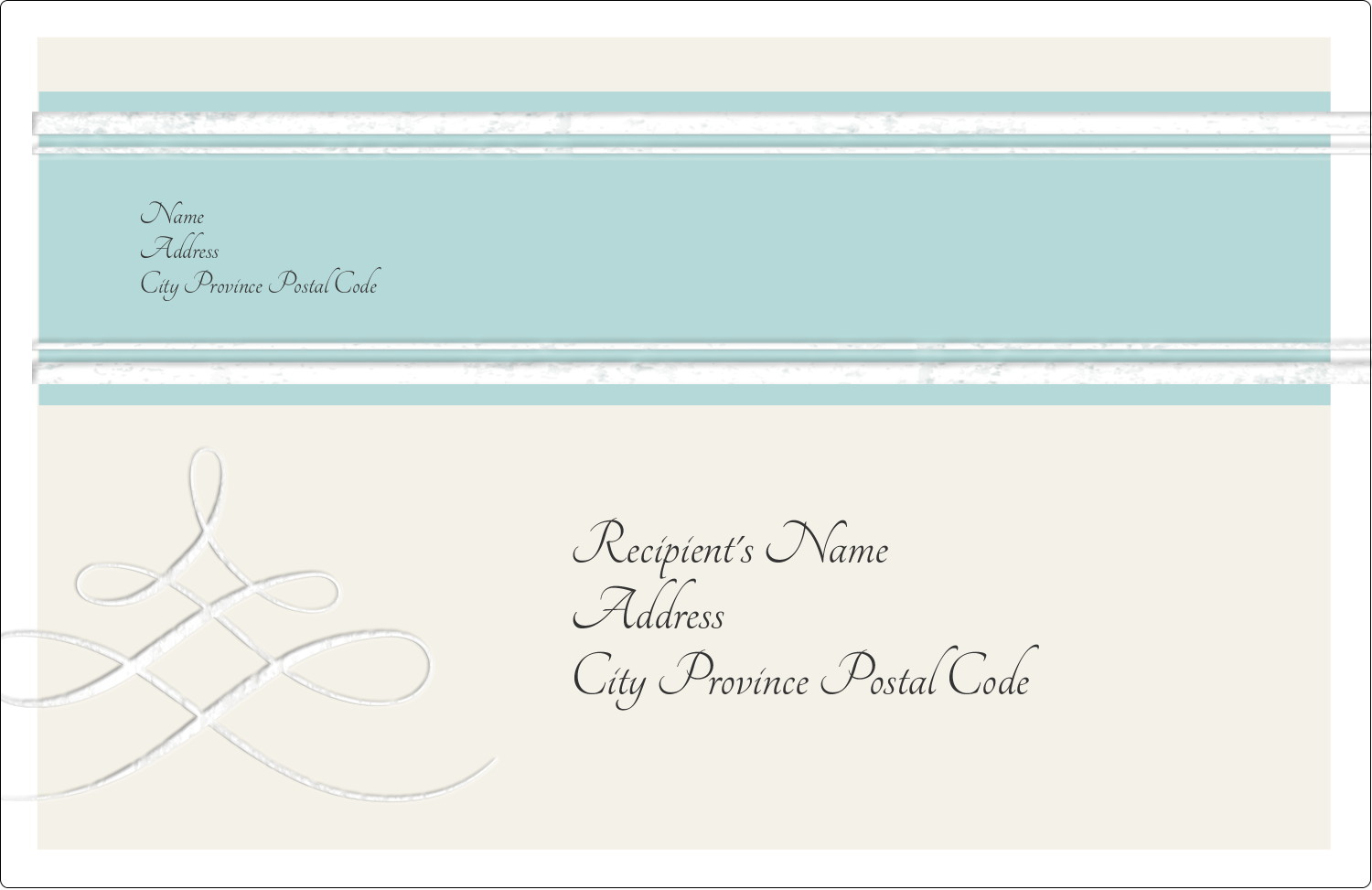 "5½"" x 8½"" Shipping Label - Letterpress Elegant"